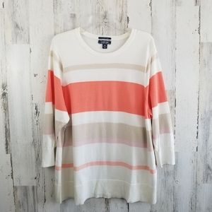 Lands' End Supima Cotton Striped Sweater